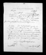 1 page written 27 Nov 1872 by George Sisson Cooper in Wellington City to Sir Donald McLean in Napier City, from Native Minister - Inward telegrams