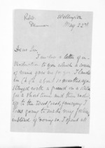 3 pages written by Robert G Skinner in Wellington, from Inward letters - Surnames, Sin - Sma