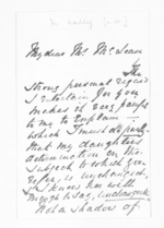 2 pages written by Rev Meyrick Lally to Sir Donald McLean, from Inward letters - Surnames, Lai - Lal