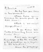 10 pages written by Sir Donald McLean to Charles Marshall, from Secretary, Native Department -  Administration of native affairs