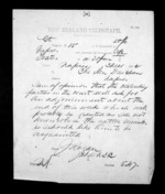 1 page written 3 Dec 1872 by John Rogan to Sir Donald McLean in Napier City, from Native Minister - Inward telegrams
