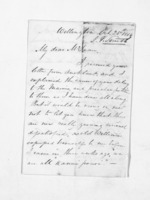 3 pages written 25 Oct 1854 by John Valentine Smith in Wellington to Sir Donald McLean, from Inward letters - Surnames, Smith