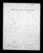 1 page, from Native Minister - Inward telegrams