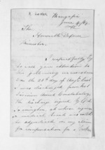4 pages written 4 Jun 1869 by Richard Loder to Sir Donald McLean, from Inward letters - Surnames, Loc - Log