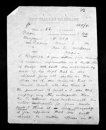 2 pages written 8 Nov 1872 by J T Edwards in Wanganui to Sir Donald McLean in Napier City, from Native Minister - Inward telegrams