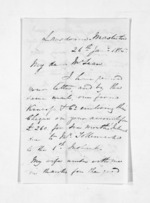 2 pages written 26 Jan 1865 by John Valentine Smith to Sir Donald McLean in Napier City, from Inward letters - Surnames, Smith