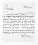 1 page written 22 Feb 1868 by an unknown author in Sydney to John Lang Currie, from Inward letters - John L Currie
