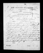 7 pages written 30 May 1872 by Dr Daniel Pollen in Auckland Region to Sir Donald McLean in Alexandra, from Native Minister - Inward telegrams