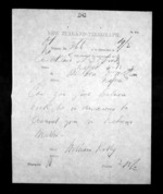 1 page written 4 Dec 1872 by William Kelly in Auckland City to Sir Donald McLean in Napier City, from Native Minister - Inward telegrams