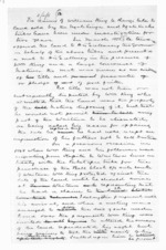 3 pages written by Sir Donald McLean, from Native affairs - Waitara