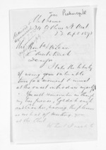 2 pages written 23 Apr 1872 by Joseph Pickersgill in Melbourne to Sir Donald McLean in Christchurch City, from Inward letters - Surnames, Pet - Pic