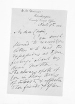 3 pages written 1 Nov 1866 by Allan Maclean Skinner, from Inward letters - Surnames, Sin - Sma