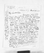 5 pages written 30 Mar 1875 by David Mitchell Luckie to Sir Donald McLean, from Inward letters - D M Luckie