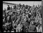 003639: New Zealand soldiers with Polish refugee children on board the General Randall, Wellington Harbour