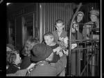 003649: Polish refugee children being greeted by New Zealand children, location unidentified