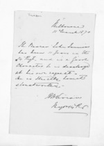 1 page written 11 Mar 1870 by an unknown author in Melbourne, from Inward letters - Surnames, Und - Viv