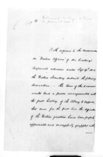 28 pages written 29 Sep 1858 by Sir Donald McLean, from Secretary, Native Department - Administration of native affairs