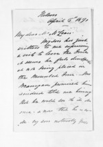4 pages written 6 Apr 1871 by Captain John Lockett to Sir Donald McLean, from Inward letters - Surnames, Loc - Log