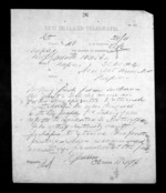 1 page written 30 Nov 1872 by Robert Reid Parris in New Plymouth to Sir Donald McLean in Napier City, from Native Minister - Inward telegrams