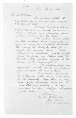 2 pages written 21 Nov 1865 by Sir Donald McLean to Sir Frederick Whitaker, from Hawke's Bay.  McLean and J D Ormond, Superintendents - Finance papers