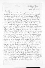2 pages written 27 May 1873 by Sergeant-Major H P Bluett in Taupo to Sir Donald McLean, from Inward letters - Surnames, Bla - Bol