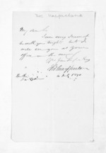 1 page written 4 Jul 1870 by Thomas Macfarlane to Sir Donald McLean, from Inward letters - Surnames, Macfar - McHar