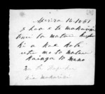 1 page written 16 Apr 1851 by Hare Nepia Hapuku to Sir Donald McLean, from Correspondence and other papers in Maori