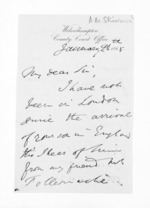 3 pages written 20 Jan 1865 by Allan Maclean Skinner, from Inward letters - Surnames, Sin - Sma