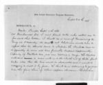 2 pages written 24 Sep 1868 by Edward Henry Bold to Sir Donald McLean, from Inward letters - Surnames, Bla - Bol