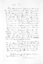 1 page written by Sir Donald McLean, from Native affairs - Waitara
