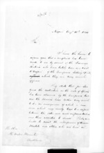 3 pages written 10 Aug 1853 by an unknown author in Napier City to Sir Donald McLean in Auckland City, from Secretary, Native Department - Administration of native affairs
