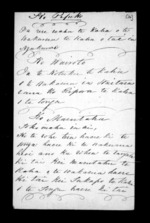 5 pages, from Correspondence and other papers in Maori
