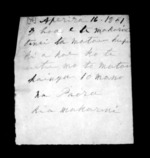 1 page written 16 Apr 1851 by Paora to Sir Donald McLean, from Correspondence and other papers in Maori