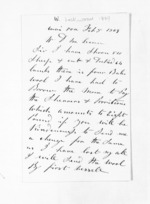 2 pages written 5 Feb 1869 by W Lockwood in Wairoa to Sir Donald McLean, from Inward letters - Surnames, Loc - Log