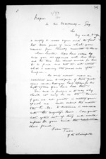 1 page written by an unknown author in Napier City to Sir George Grey, from Correspondence and other papers in Maori