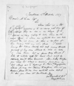 2 pages written 14 Oct 1853 by Gregor McGregor in Turakina to Sir Donald McLean, from Inward letters - Surnames, Macfar - McHar