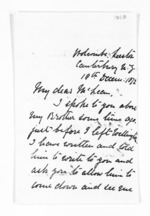 3 pages written 18 Dec 1872 by William James Geffrard Bluett in Canterbury to Sir Donald McLean, from Inward letters - Surnames, Bla - Bol