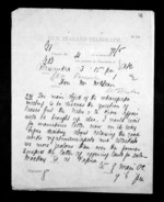 1 page written 1 Nov 1872 by William Gilbert Mair in Alexandra to Sir Donald McLean in Wellington, from Native Minister - Inward telegrams