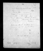 1 page written 2 Dec 1872 by Robert Hart in Wellington to Sir Donald McLean in Napier City, from Native Minister - Inward telegrams