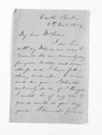 2 pages written 4 Nov 1859 by John Valentine Smith to Sir Donald McLean, from Inward letters - Surnames, Smith