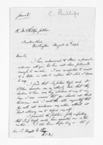 3 pages written 10 Aug 1876 by Coleman Phillips in Wellington City to Sir Donald McLean, from Inward letters - Surnames, Pet - Pic