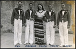 Five members of the Kiwi Concert Party, World War Two