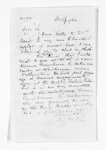 1 page written by Sir Donald McLean in Wellington City, from Inward letters - Surnames, Pet - Pic