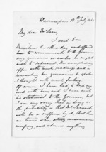8 pages written 18 Jul 1860 by John Valentine Smith in Wairarapa to Sir Donald McLean, from Inward letters - Surnames, Smith