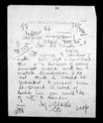 1 page written 25 Nov 1872 by Henry Tacy Clarke in Tauranga to Sir Donald McLean in Napier City, from Native Minister - Inward telegrams