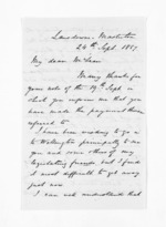 3 pages written 24 Sep 1867 by John Valentine Smith in Masterton to Sir Donald McLean, from Inward letters - Surnames, Smith