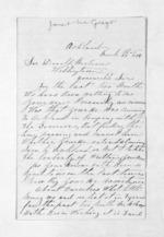3 pages written 28 Mar 1876 by Janet McGregor in Auckland Region to Sir Donald McLean in Wellington, from Inward letters - Surnames, Macfar - McHar