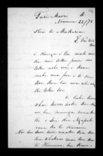 3 pages written 23 Nov 1876 by Hori Karaka to Sir Donald McLean, from Documents in Maori