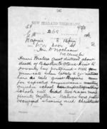 2 pages written 31 Dec 1872 by Francis Edwards Hamlin in Napier City to Sir Donald McLean in Wellington, from Native Minister - Inward telegrams