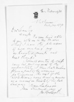 1 page written 29 Jul 1872 by Joseph Pickersgill in Melbourne, from Inward letters - Surnames, Pet - Pic